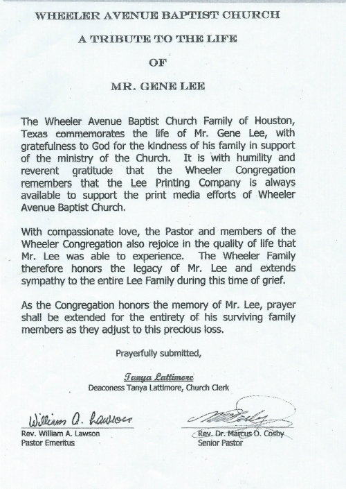 Gene Lee Tribute